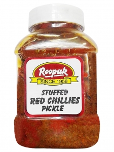 Stuffed Red Chillies Pickle (Roopak, Delhi)