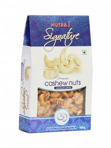 Roasted & Salted Cashew Nuts Chilli Garlic ( Nutraj Signature,Jammu)
