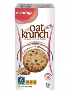 Oat Krunch Strawberry & Black Current Pack Of-(2) (Munchy's, Malaysia)